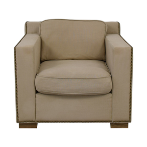 Restoration Hardware Restoration Hardware Collins Beige Nailhead Accent Chair coupon