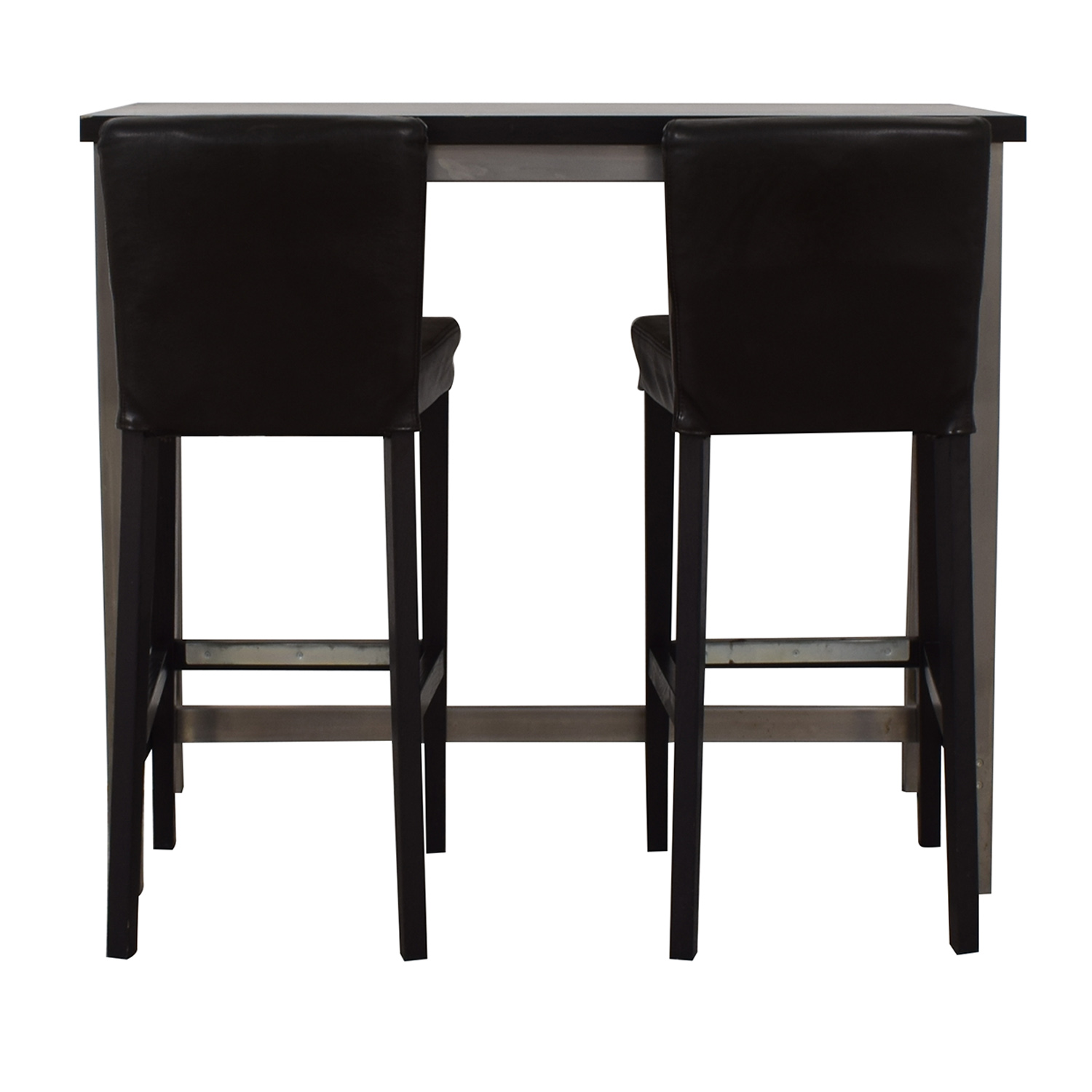 IKEA IKEA Henriksdal Counter Height Brown and Chrome Dining Set Chairs