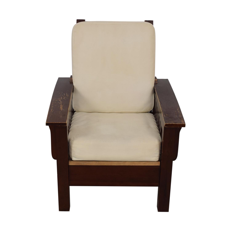 Dark Wood Recliner Chair
