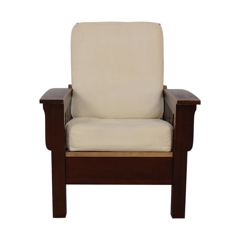 buy Dark Wood Recliner Chair