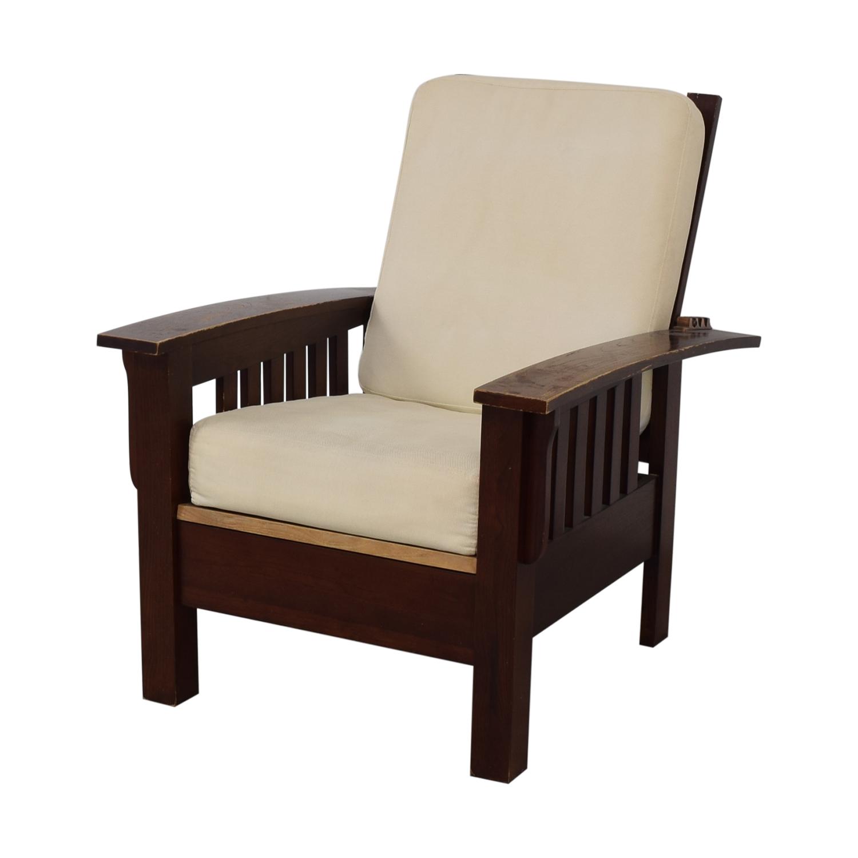 Dark Wood Recliner Chair used