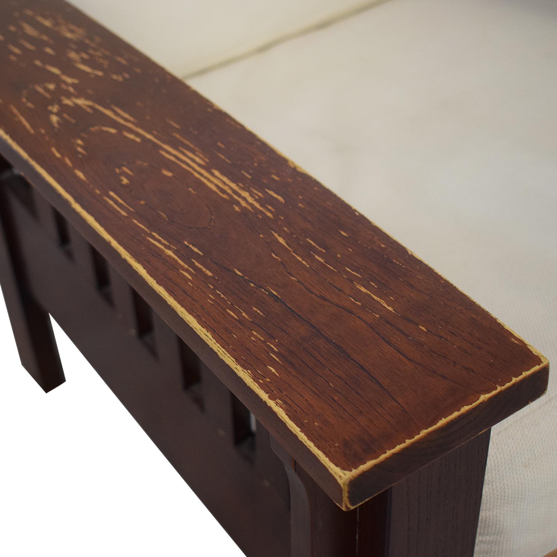 Dark Wood Recliner Chair / Chairs