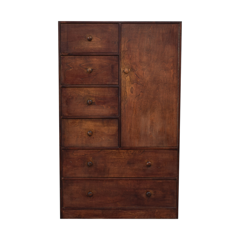 shop Six-Drawer and Shelving Clothing Armoire or Tall Dresser