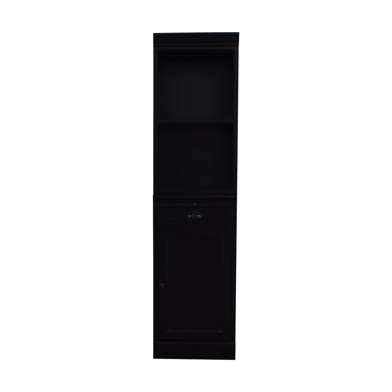 Pottery Barn Pottery Barn Modular Wine Bar Cabinet Base And Open Hutch black
