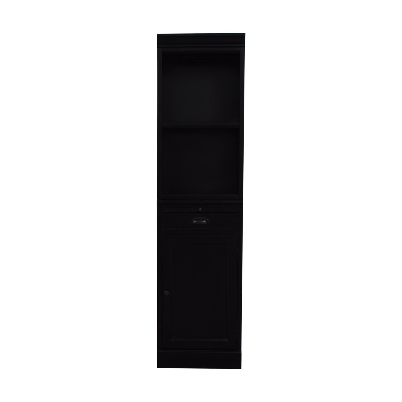 Pottery Barn Pottery Barn Modular Wine Bar Cabinet Base And Open Hutch black