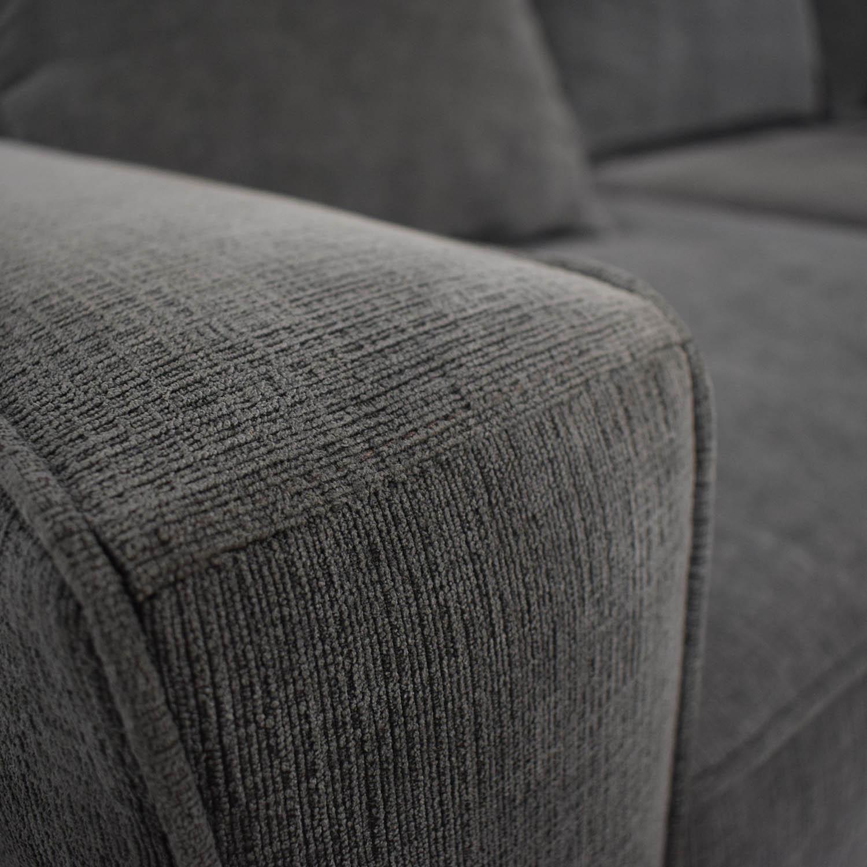 Macy's Macy's Radley Charcoal Grey Three-Cushion Sofa with Ottoman coupon
