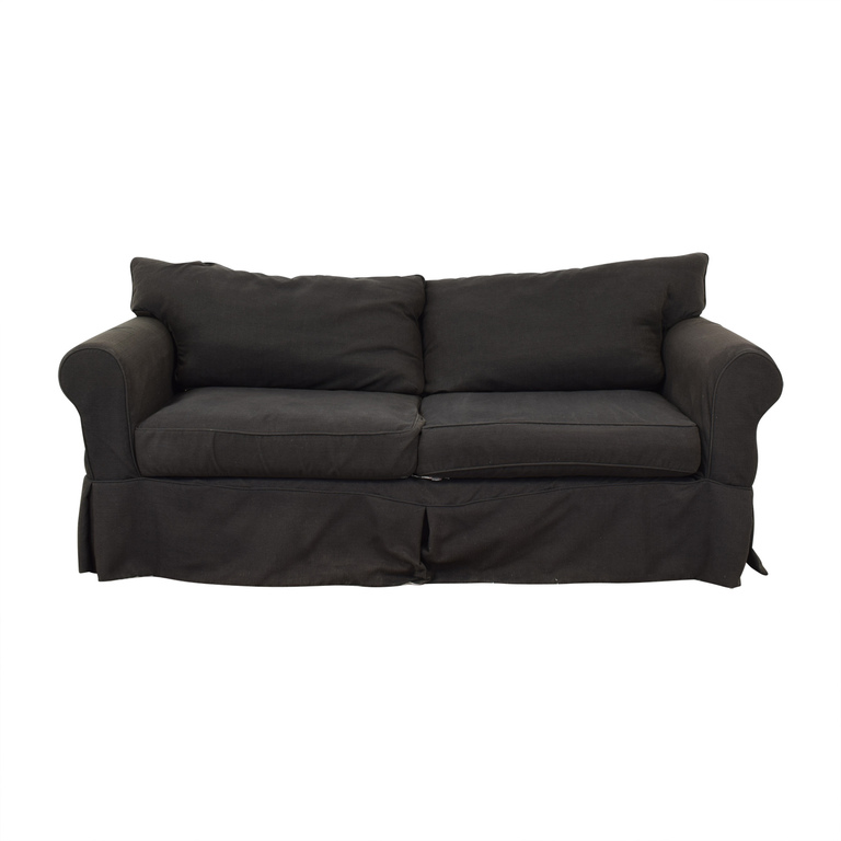 Jennifer Furniture Jennifer Furniture Grey Two-Cushion Sofa used