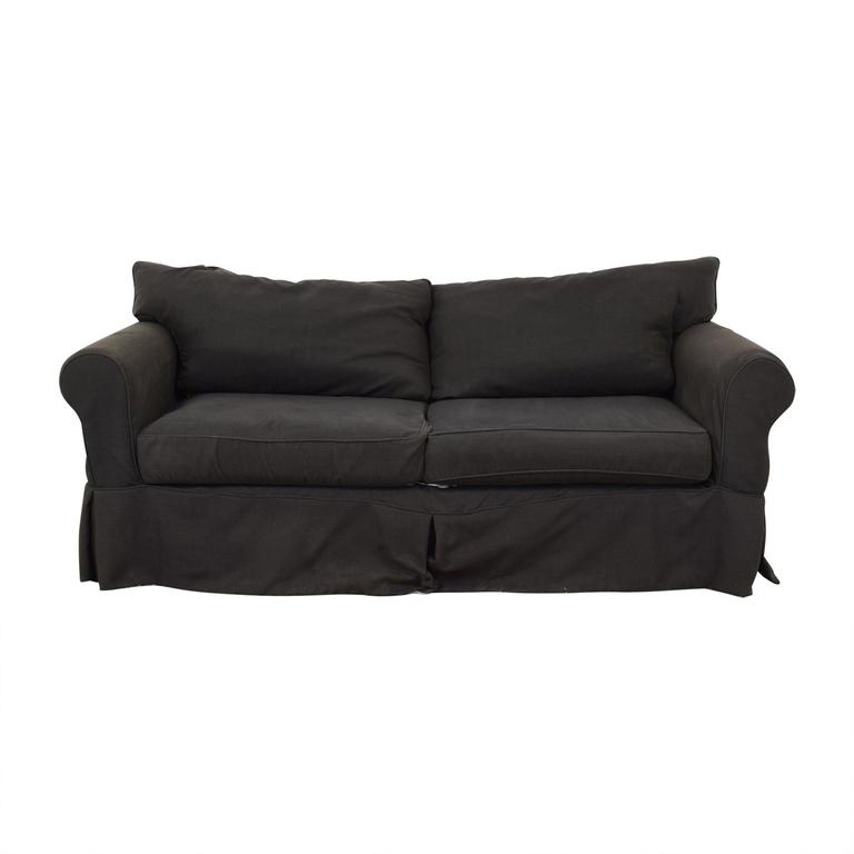 Jennifer Furniture Jennifer Furniture Grey Two-Cushion Sofa nj