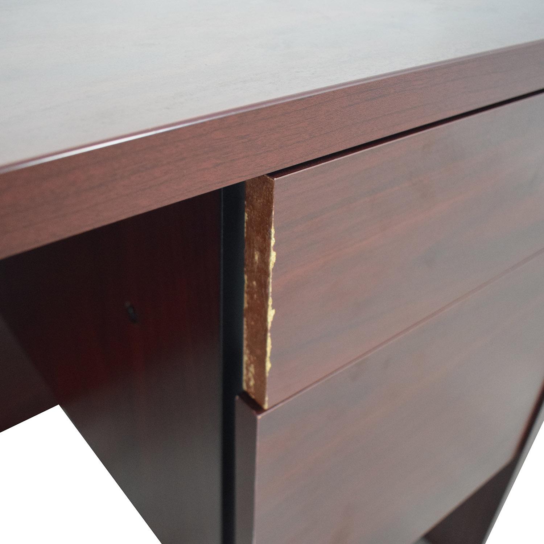 shop Hon Four-Drawer Desk Hon
