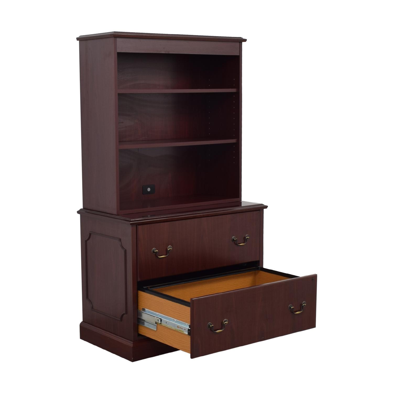 shop HON Furniture Filing Cabinet with Book Shelf HON Furniture Storage