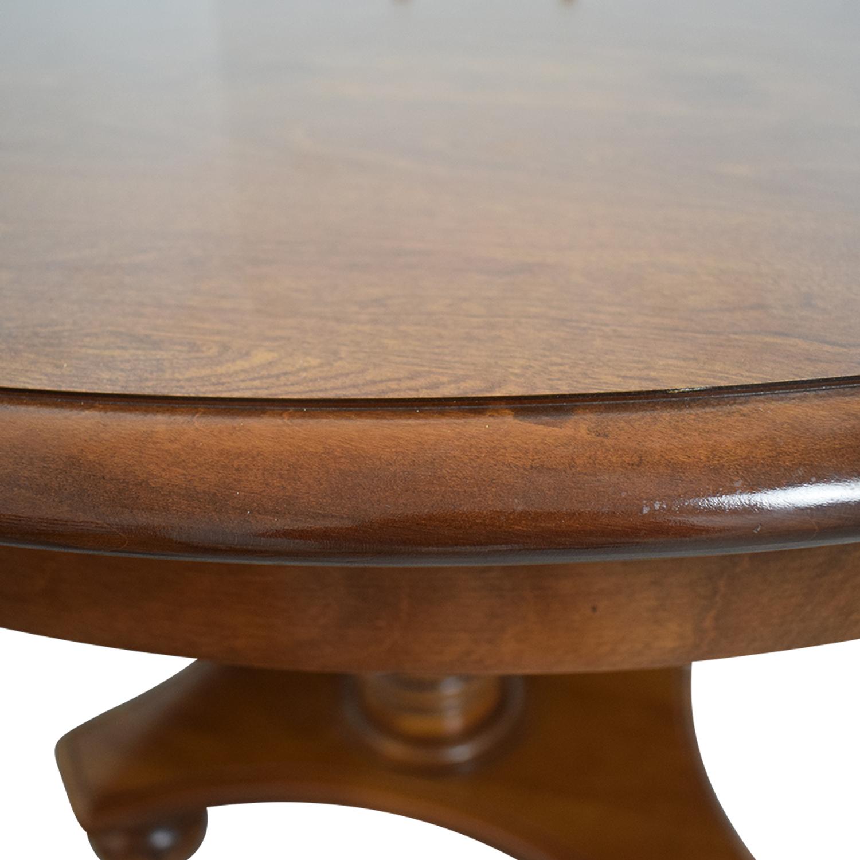 Ethan Allen Ethan Allen Extendable Wood Pedestal Dining Set price