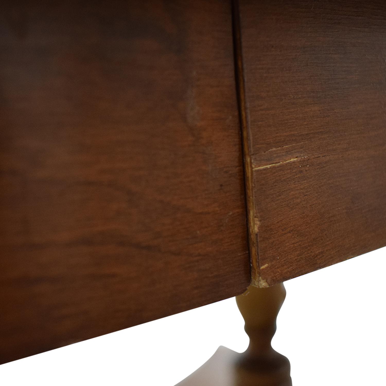 Ethan Allen Ethan Allen Extendable Wood Pedestal Dining Set used