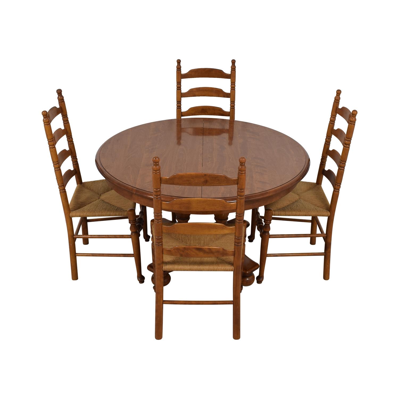 Ethan Allen Extendable Wood Pedestal Dining Set Ethan Allen
