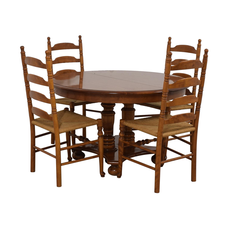 buy Ethan Allen Ethan Allen Extendable Wood Pedestal Dining Set online