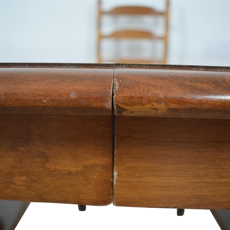 Ethan Allen Ethan Allen Extendable Wood Pedestal Dining Set BROWN