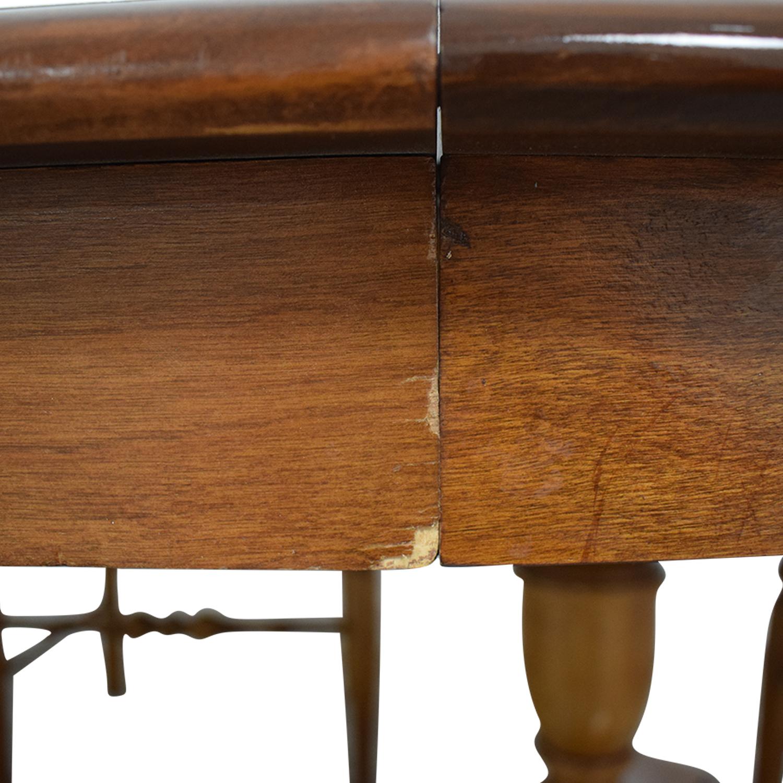 Ethan Allen Ethan Allen Extendable Wood Pedestal Dining Set for sale