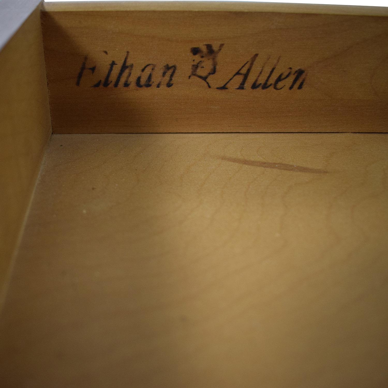 buy Ethan Allen Ethan Allen Wood Folding Leaf Bar Cart Table on Castors online
