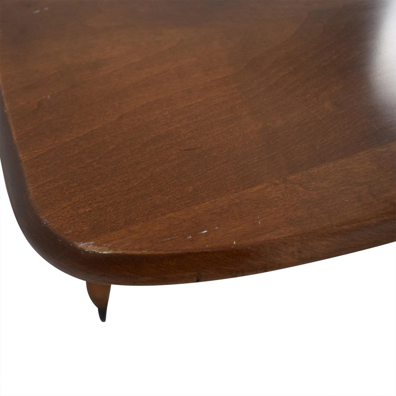 shop Ethan Allen Wood Folding Leaf Bar Cart Table on Castors Ethan Allen