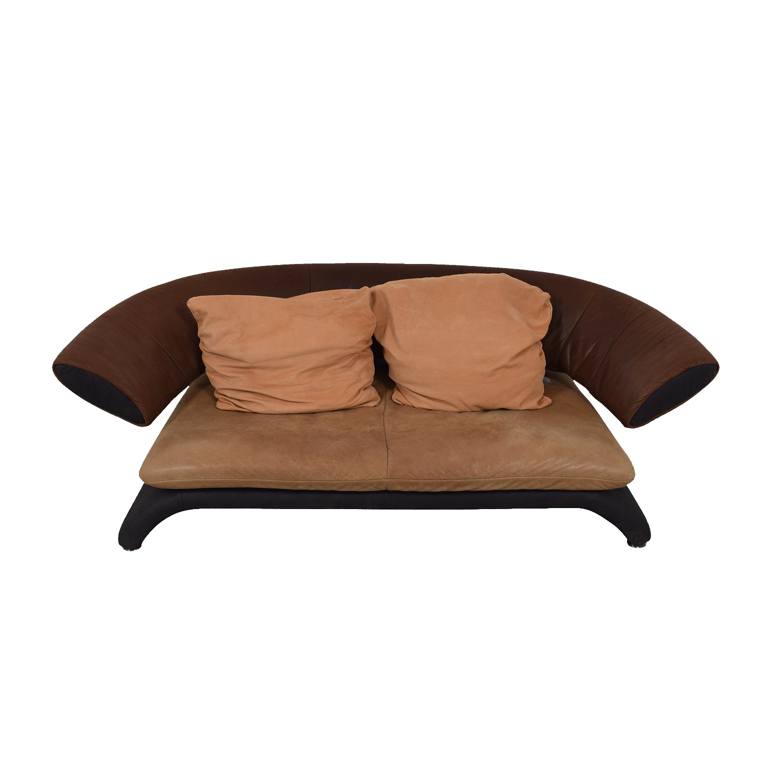 87% OFF - Koinor Koinor Shades of Brown Modern Couch / Sofas