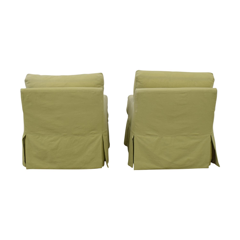 Crate & Barrel Crate & Barrel Green Rocker Accent Chairs