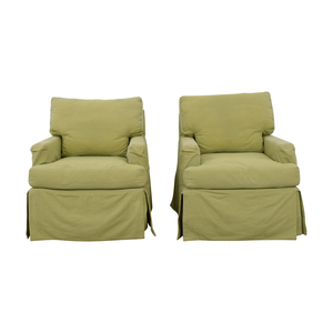 buy Crate & Barrel Crate & Barrel Green Rocker Accent Chairs online