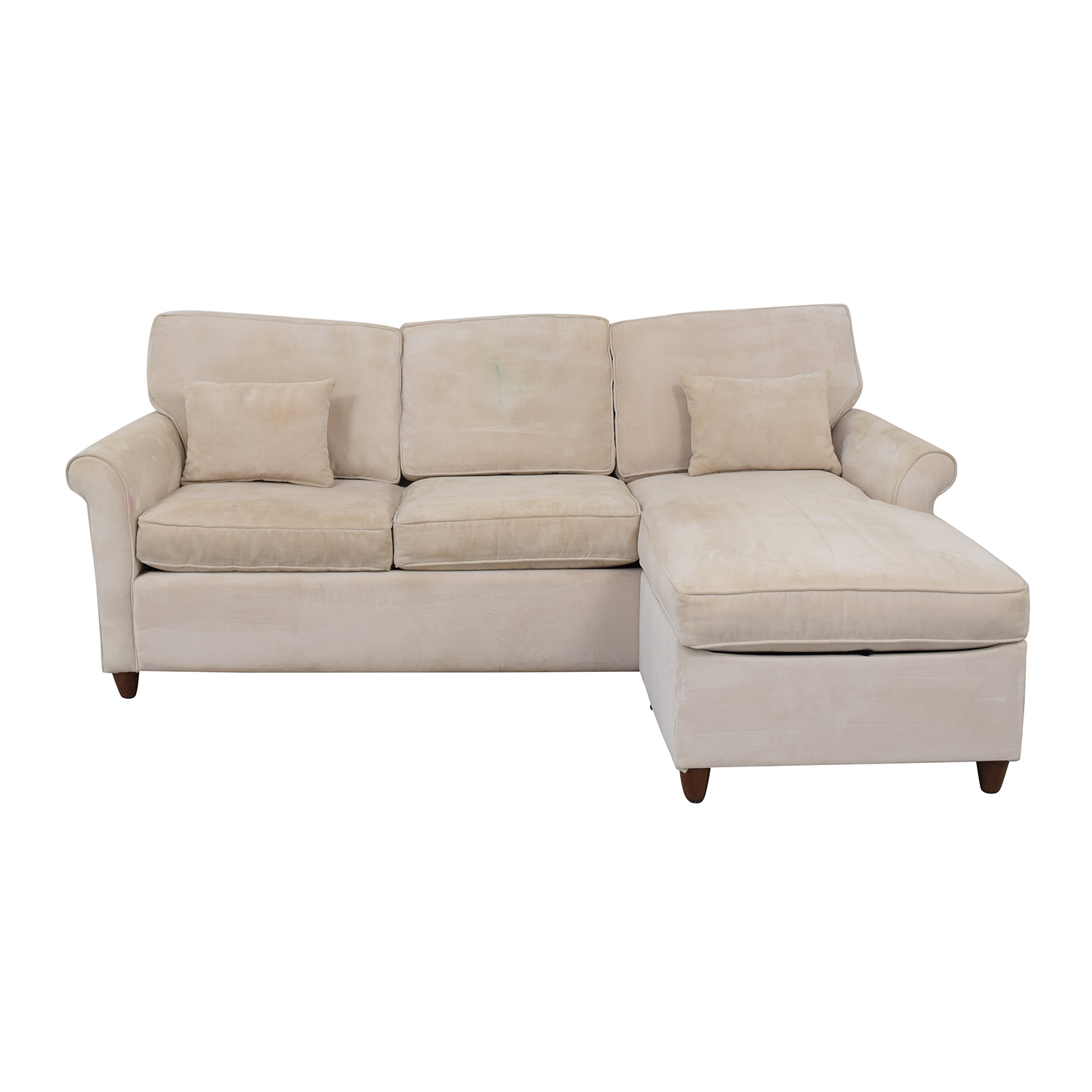 shop Macy's Macy's Beige Reversible Ottoman Chaise Sectional online