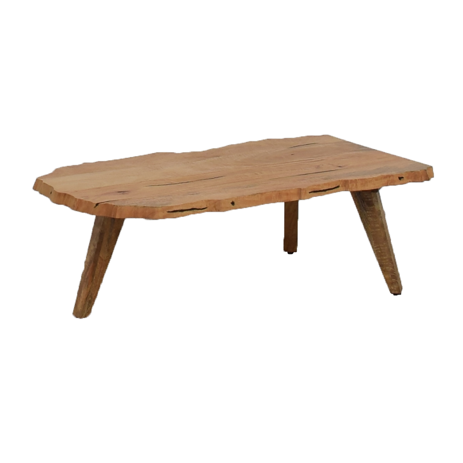 76 Off West Elm West Elm Live Wood Edge Coffee Table Tables