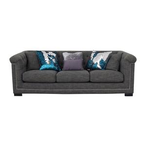 Grey Three-Cushion Sofa nyc