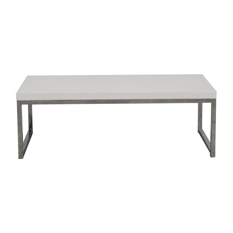 White and Chrome Coffee Table nj