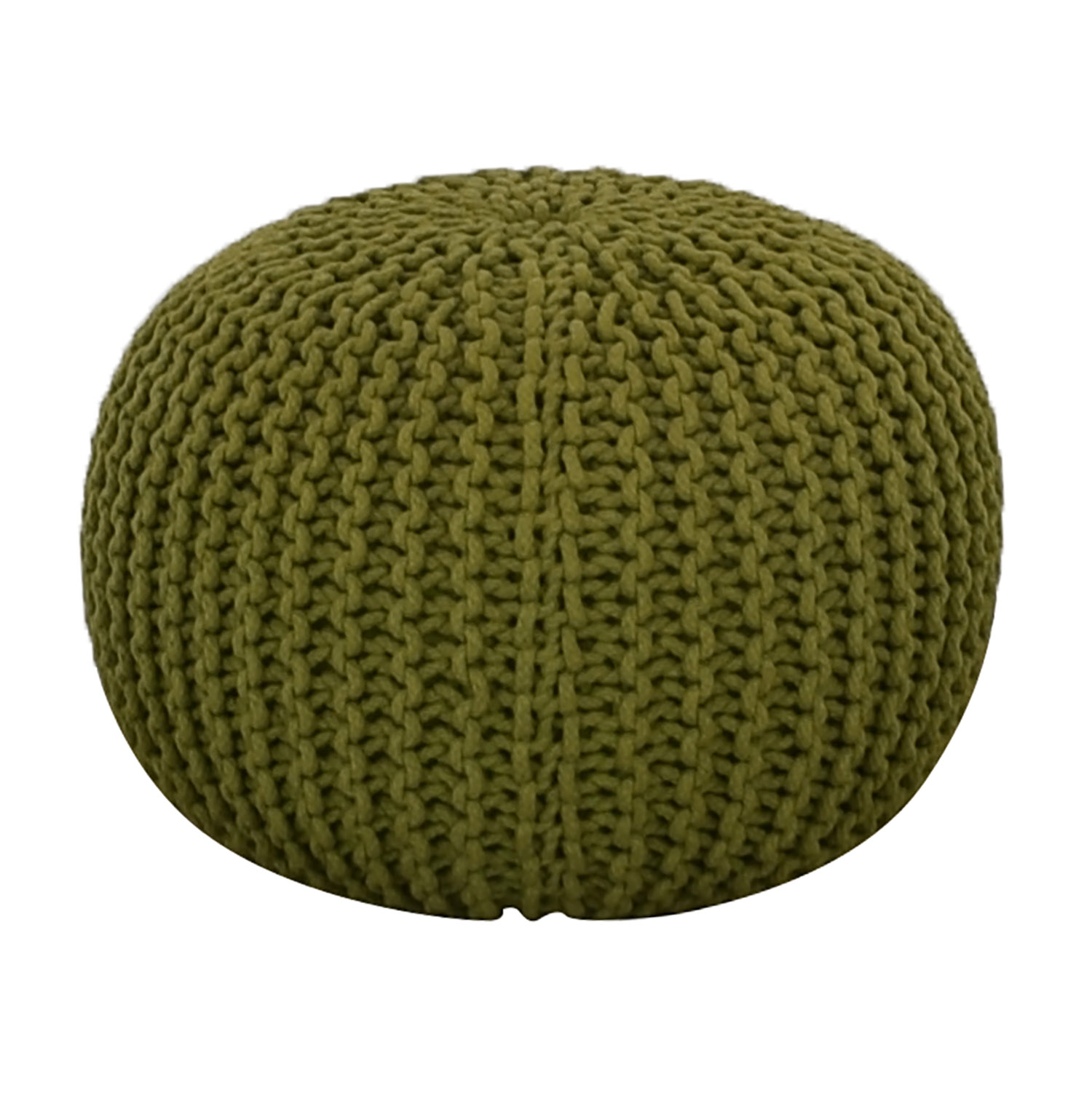 CB2 CB2 Green Rope Puff Ottoman for sale