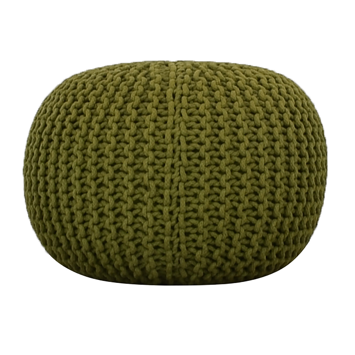 CB2 CB2 Green Rope Puff Ottoman used