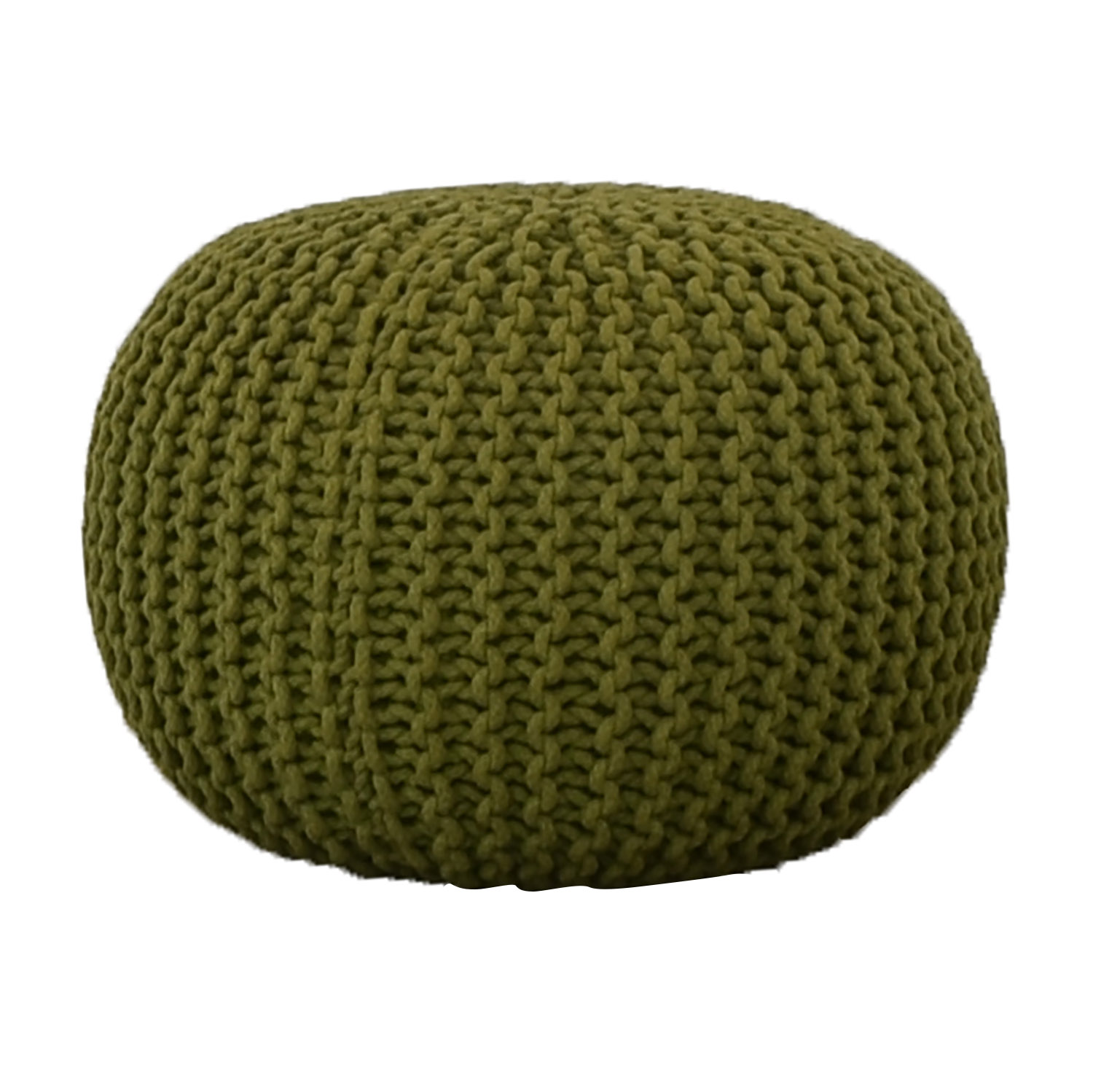 CB2 CB2 Green Rope Puff Ottoman Chairs
