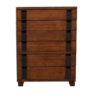 Six-Drawer Wood Tall Dresser