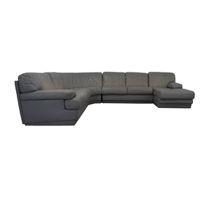 House of Grossman House of Grossman Grey L-Shaped Chaise Sectional dimensions