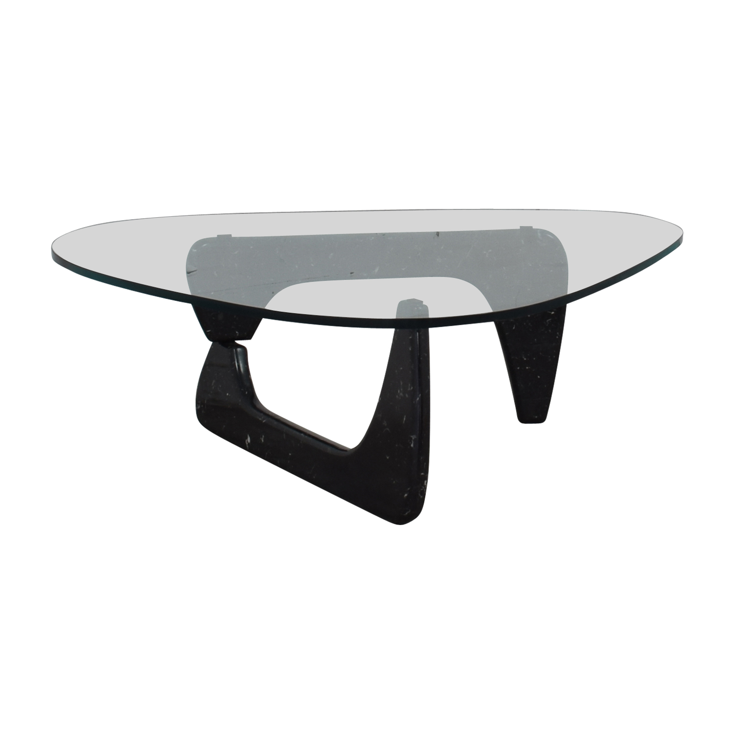 Maurice Villency Maurice Villency Noguchi Style Glass with Black Marble Coffee Table black
