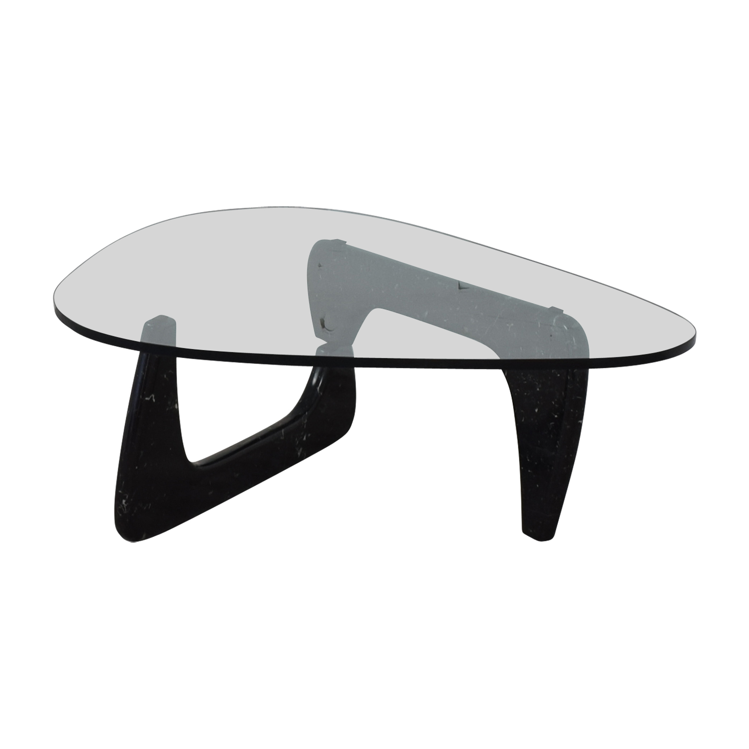 Maurice Villency Maurice Villency Noguchi Style Glass with Black Marble Coffee Table on sale