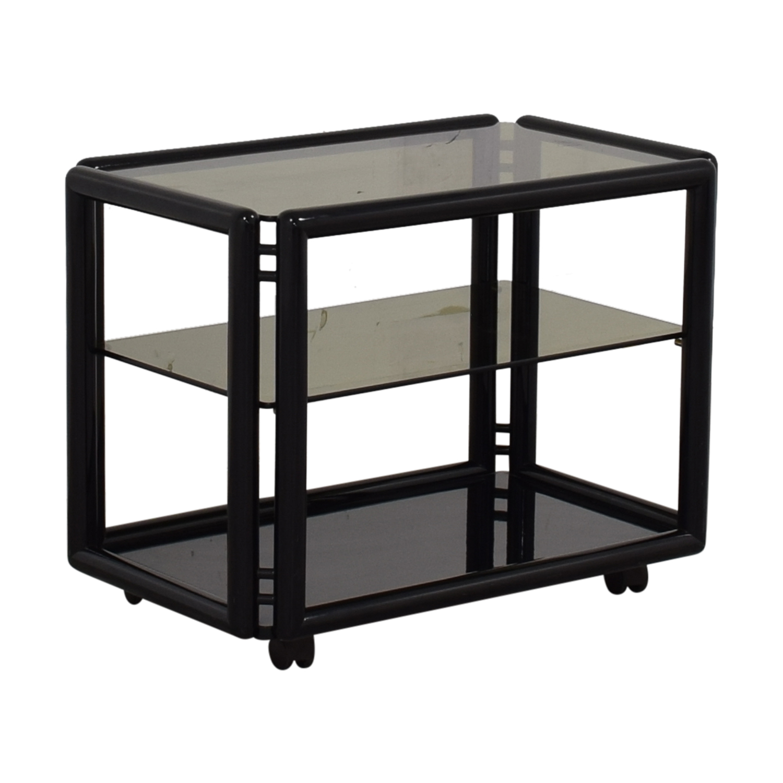 shop  Black and Glass Bar or Tea Cart online