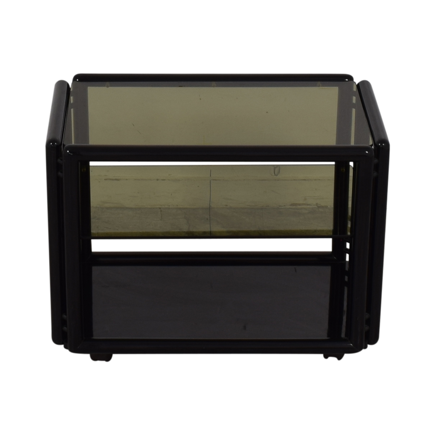 buy Black and Glass Bar or Tea Cart  Media Units