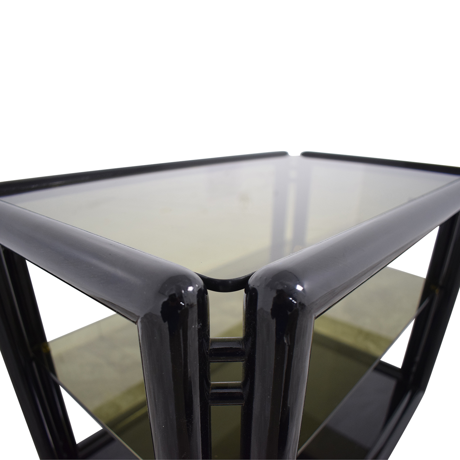 Black and Glass Bar or Tea Cart on sale