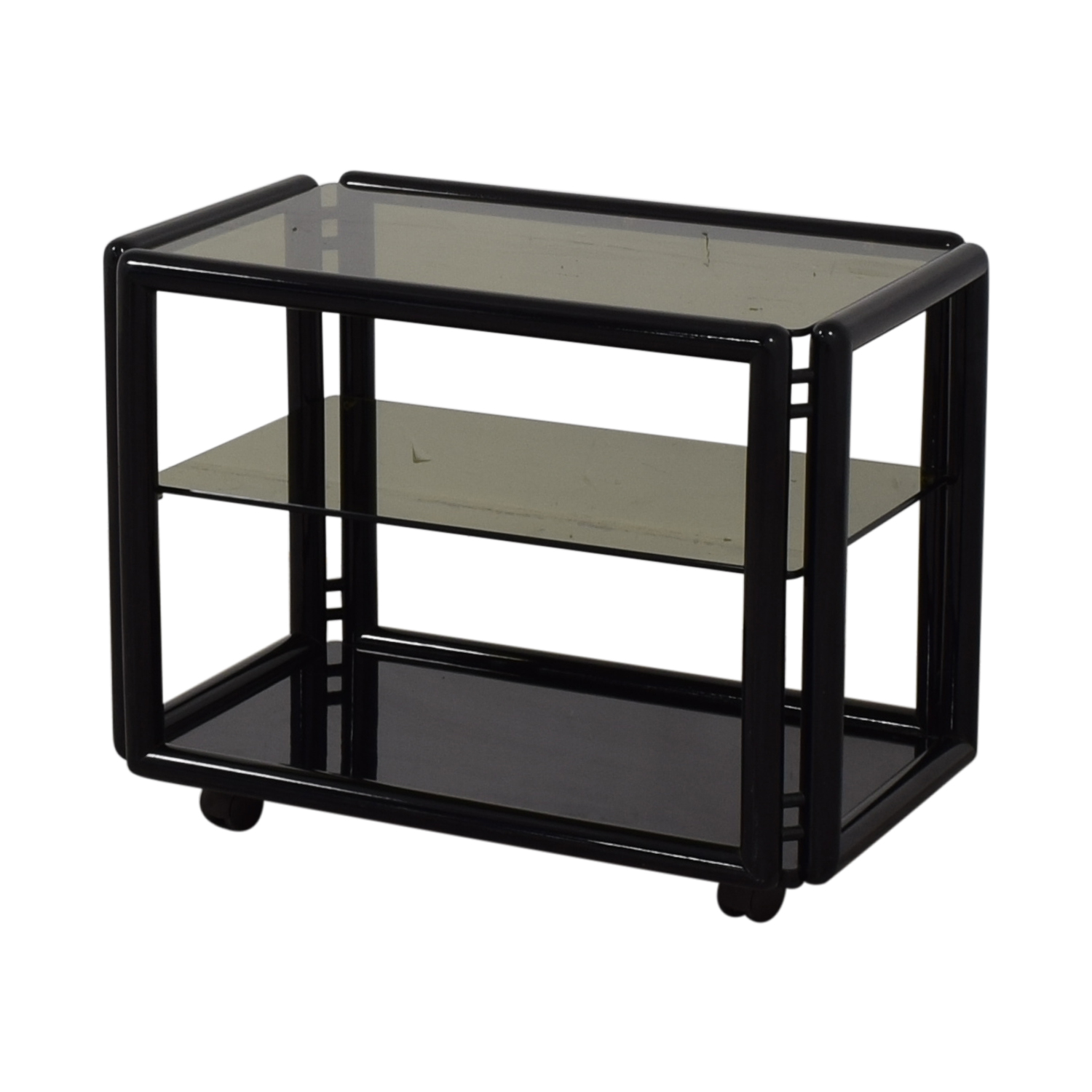 Black and Glass Bar or Tea Cart sale