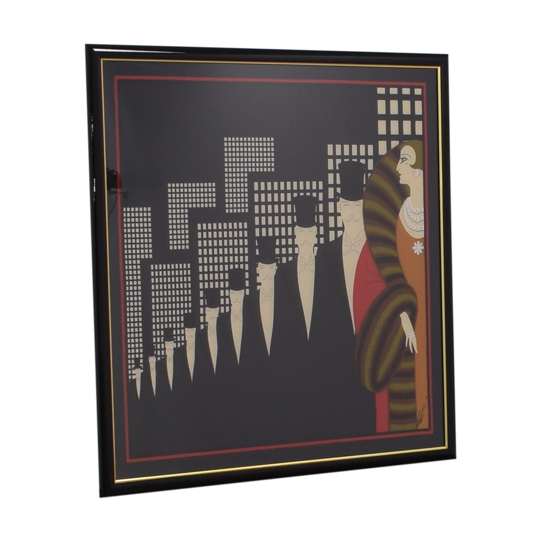 Erte Multi-Colored Poster for sale