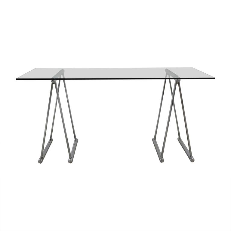 shop  Glass & Chrome Desk online