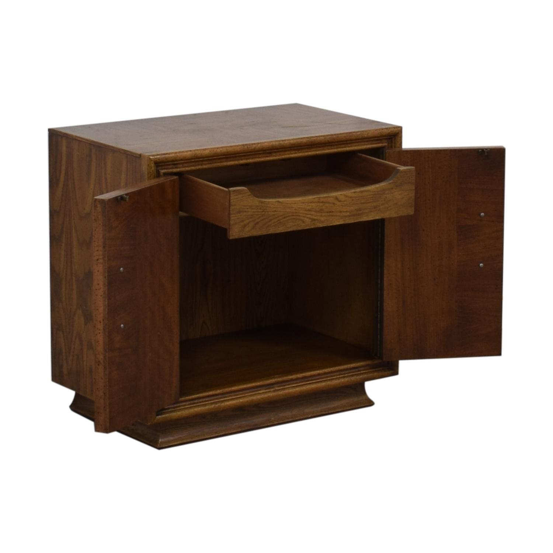 Single Drawer Wood Night Table brown