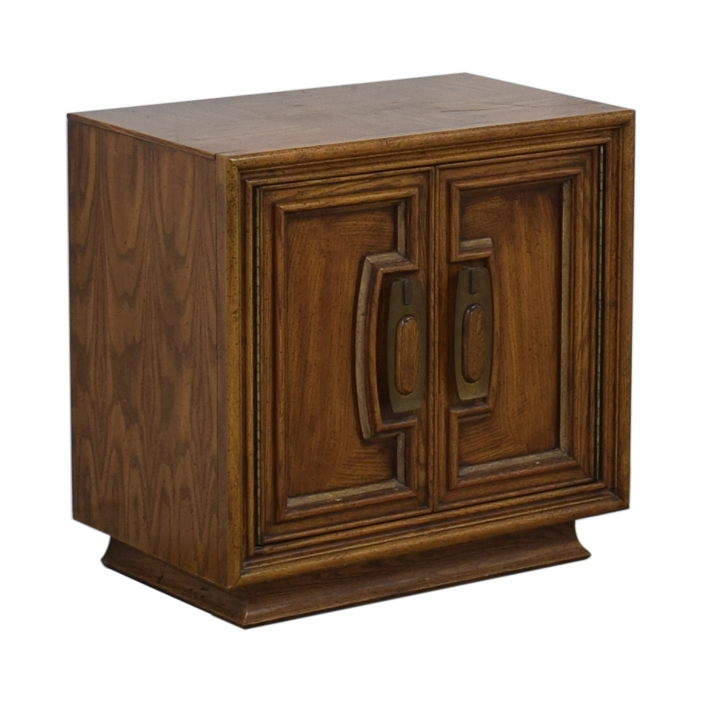Single Drawer Wood Night Table on sale