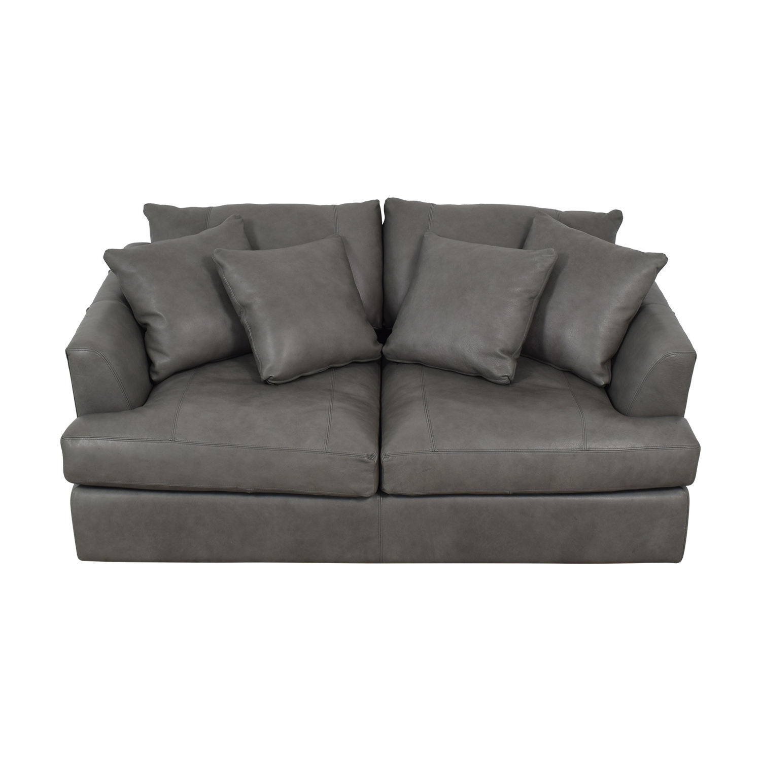 Arhaus Arhaus Emory Deep Leather Sofa dimensions
