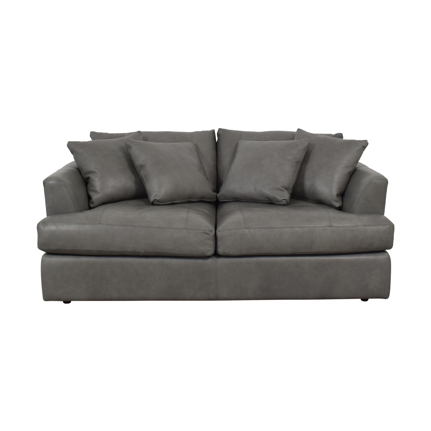 82% OFF - Arhaus Arhaus Emory Deep Leather Sofa / Sofas