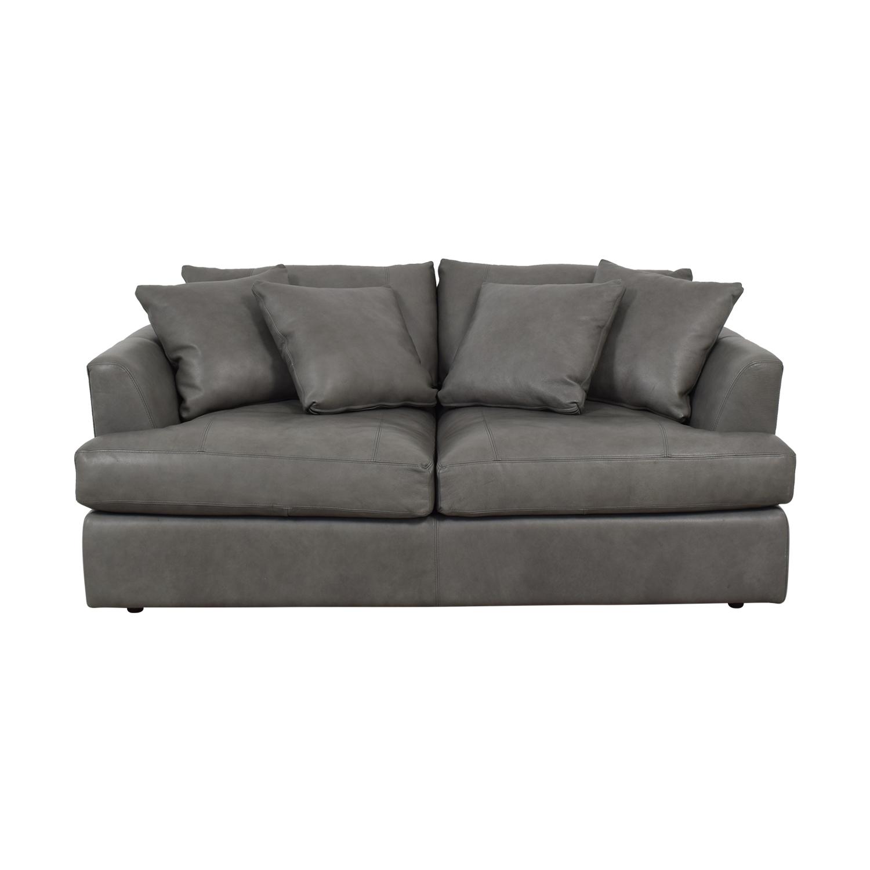 Arhaus Emory Deep Leather Sofa sale