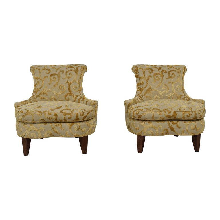 shop Bentley Churchill Cream and Gold Accent Chairs Bentley Churchill Chairs
