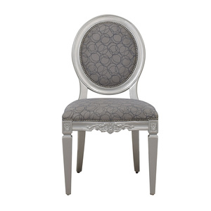 buy  Hollywood Regency Style Grey Nailhead Accent Chair online