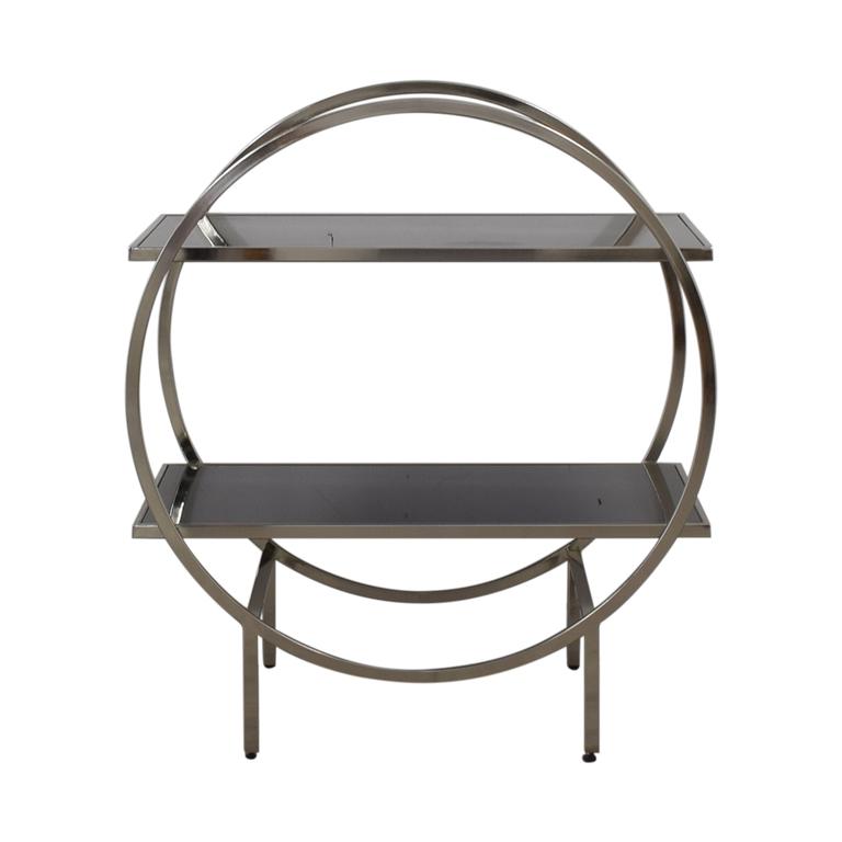 shop Black and Chrome Circular Bar Cart